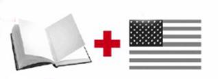 书本和国旗作为元素