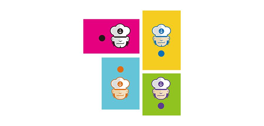 LOGO设计四个彩色稿
