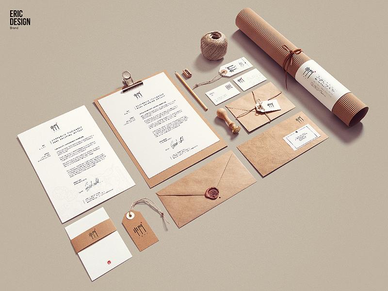 信封设计、信纸设计