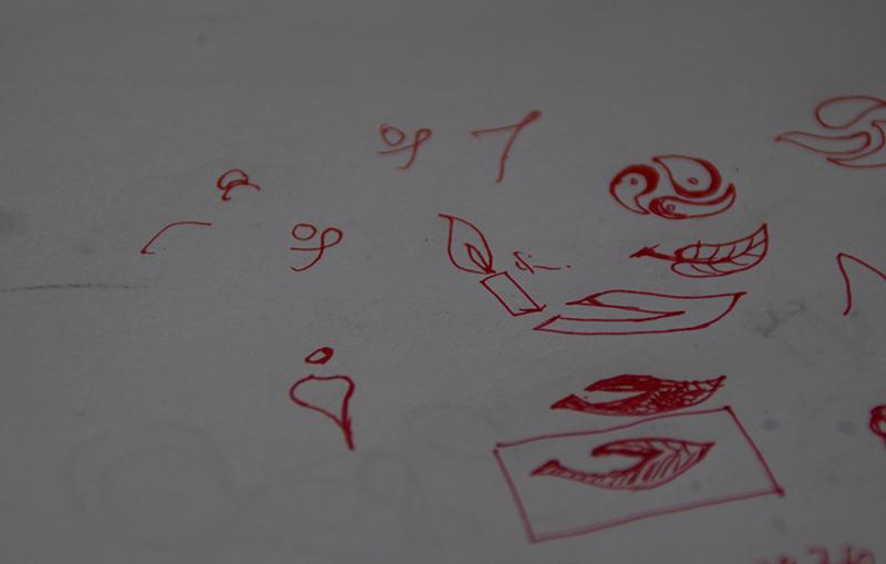 科技公司LOGO手绘稿