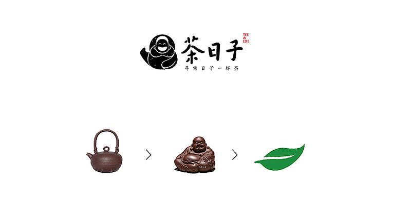 茶日子logo设计,茶馆logo就该这么设计图片