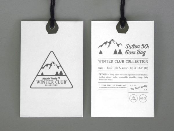 Herschel Supply Co Winter Club Collection标志